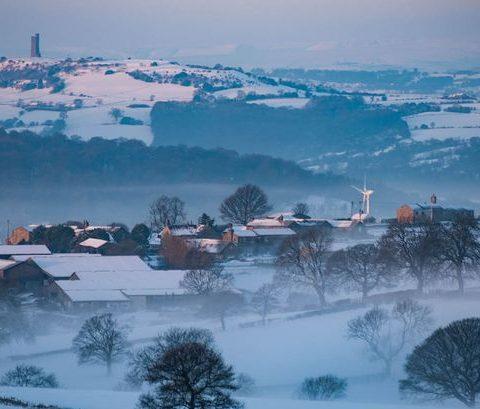 Winter in the Pennines near Huddersfield